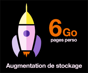 6Go pour vos pages perso